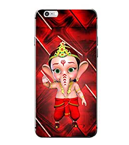Fuson Little Ganesh Designer Back Case Cover for Apple iPhone 7 Plus (Ganesh Balaganapati Bhalchandra Bhupati Bhuvanpati Chaturbhuj Vinayagar Sampath Little)