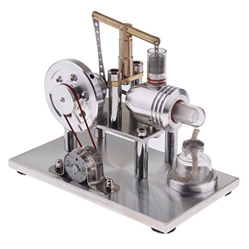 Sharplace Gleichgewicht Stirling Motor Modell - Generator Generator Bildung Modellbausatz Kit - Kinder Pädagogische - Experiment Glühbirne