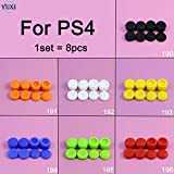 orange : YuXi 1set Silicone Cap Thumbstick Thumb Stick Cover Case Skin Grip Grips For PlayStation 4 PS4 Wireless Controller