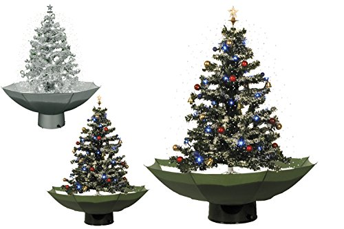 Weihnachtsbaum mit Schneefall - 75cm Schneiender Tannenbaum Christbaum Schnee Selbstschneiend (Grün)