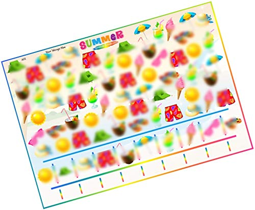 Party Stuff Summer Theme Paper Games - Summer Item Count - Count Items (24 Cards) | Kitty Games