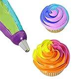 KaariFirefly Icing Piping Bag Nozzle Converter 3 Hole 3 Color Cream Coupler Cake Decor Tool