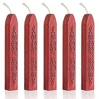 ANKKO 5Pcs Wine Red Wax Wicks Sticks For Postage Letter Manuscript Sealing Seal