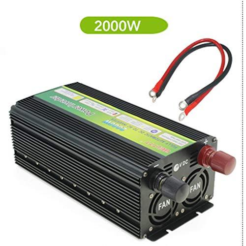 Hyzbpp Auto-Sinus-Spannungswandler - Auto-Wechselrichter 12V auf 24V-Wandler - Wechselrichter-Wandler mit 1 Buchse und USB-Anschluss - Inkl.Spitzenleistung 1000-5000 Watt