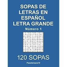 Sopas de letras en español Letra Grande - N. 1