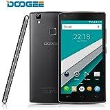 Téléphone Portable Débloqué, DOOGEE X5 MAX PRO 4G Smartphone, 4000mAh Grosse Batterie, 5.0 Pouces IPS Ecran, Android 6.0 Double SIM, 2GB RAM+16GB ROM, Empreinte Digitale Téléphone Mobile - Noir