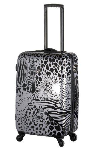 ... 50% SALE ... PREMIUM DESIGNER Hartschalen Koffer - Heys Core Serengeti Metallic Silber - Trolley mit 4 Rollen Gross Metallic Silber