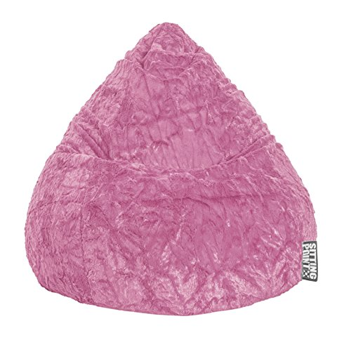 Magma-Heimtex 2826152 Sitzsack XL Fluffy, 70x110cm, 220Liter, Polystyrolfllung, Original Knauf, Farbe pink