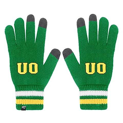 NCAA Oregon Ducks '47 Jumble Gloves, One Size, Kelly
