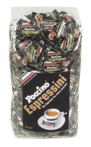 POCCINO Espressini schokolierte Espressobohnen 400g Beutel Einzelnverpackt