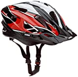 Uvex Fahrradhelm Boss Compact, Red-Black-White, 53-58, 4105460815