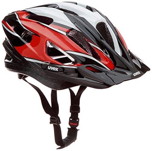 Uvex Fahrradhelm Boss Compact, Red-Black-White, 53-58 cm