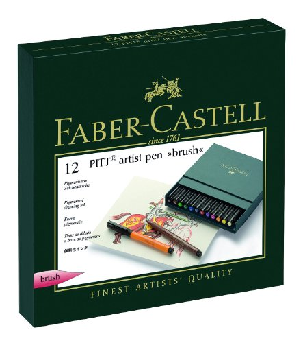 PEN BRUSH FABER-CASTELL PITT ARTIST 12er Atelierbox - Faber Castell Pitt Artist Brush