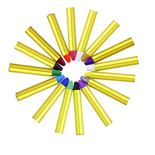 Pintura Facial Buluri 16 Colores Face Paint Crayons Conjuntos de Pintura Corporal Faciales Seguros y no Tóxicos con 40 Plantillas Perfectos para Carnaval Semana Santa Navidad Cosplay Fiestas
