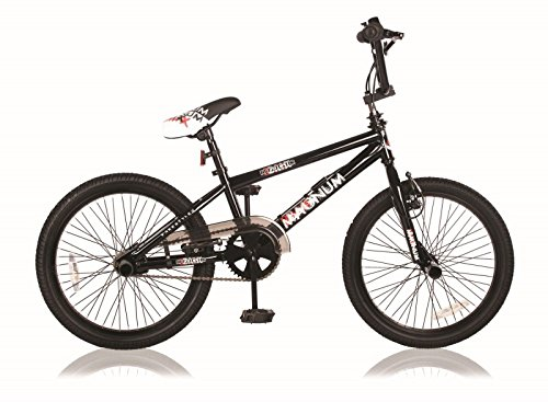 20 ZOLL BMX KINDER BIKE FAHRRAD RAD KINDERFAHRRAD JUGENDFAHRRAD Freestyle 360° ROTOR 4 Pegs MAGNUM SCHWARZ