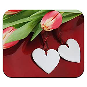 Love Romance wedding Anniversary Hearts Flowers mouse pad Mousepad