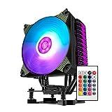 AIGO K4 RGB Ventole di Raffreddamento CPU per l'host Computer 12CM Della Unità Centrale Sfera Tranquillo Laptop Portatili Azione Fan con il Supporto LED