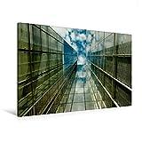 Premium Textil-Leinwand 120 cm x 80 cm quer, Wolkenkratzer | Wandbild, Bild auf Keilrahmen, Fertigbild auf echter Leinwand, Leinwanddruck: Spiegelnde Hochhauses mit Himmelsblick (CALVENDO Orte)