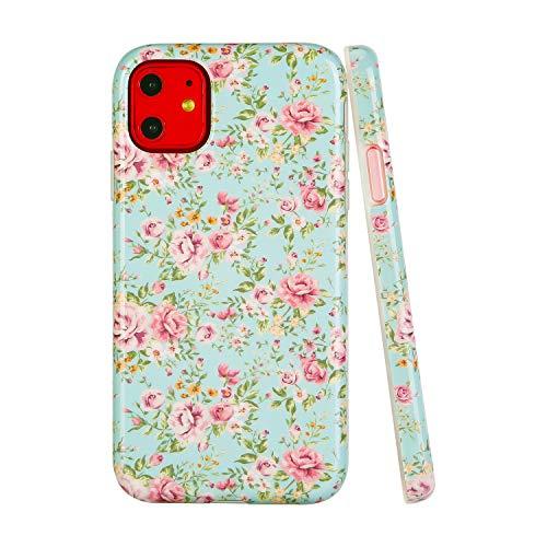 SunshineCases【Kompatibel: Apple iPhone 11】 Dünne, Ganzkörper-Schutzhülle für Damen und Mädchen, Vintage Pink Floral