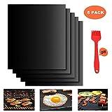 YUMUN BBQ GrillmatteYUMUN 5er Set BBQ Antihaft Grill-und Backmatte wiederverwendbar PFOA-frei – Gas und Weber Style Grills für Holzkohle Grill, Backofen, Dampf-Backofen, Mikrowelle, etc. 33x40CM