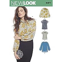 Simplicity nl6471 New Look patrón de Costura Blusa Papel Blanco ...