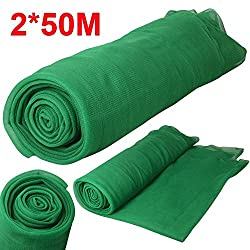 Popamazing Debris Scaffold Netting Plant Fence Garden Crop Shade 2mx50m Green