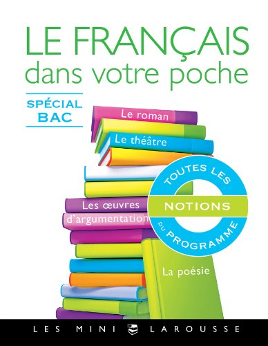Book's Cover of Le français dans votre poche - Spécial bac