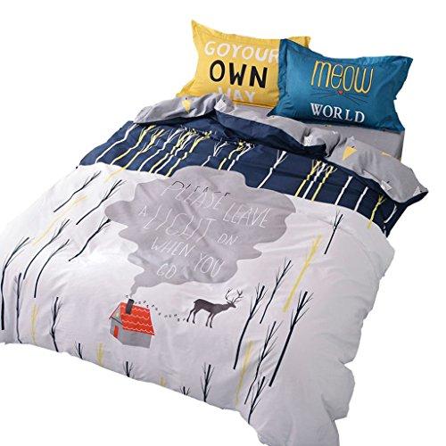 CJH 100% Baumwolle 4 Stück Bettwäsche-Sets, Bettwäsche-Sets, Kissenbezüge (Size : - Teen Mädchen Rosa Bettwäsche