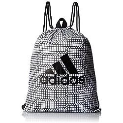 adidas Brushed Gym Bag Bolsa de Deporte, Unisex Adulto, Blanco (Blanco / Negro / Negro), NS