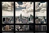 1art1 56668 New York - Fenster mit Ausblick auf Die Skyline