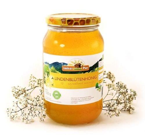 Mensch Bio-bienenwachs (ImkerPur® Lindenblüten-Honig, 1200g, kaltgeschleudert, fein-fruchtig, mit einer süßen Zitronen-/Minz-Note)