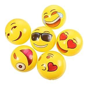 12 x emoji beachball f r kinder aufpumpbar strandball spielen am strand geschenk f r. Black Bedroom Furniture Sets. Home Design Ideas