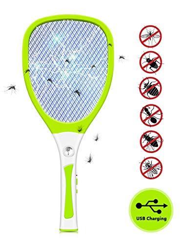 JOLVVN Raquette Anti Moustique Electrique Insectes...