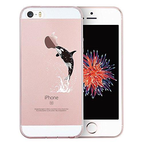 Coque iPhone 7, TrendyBox PC Hard Cover avec soft TPU Pare-chocs pour iPhone 7 (Fleur de Cerisier et Lapins) Baleine