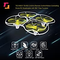 Goolsky TECHBOY TB-802 2.4GHz Remote Control One-key Motion Controlling Drone RC Quadcopter with 360° Flips Function