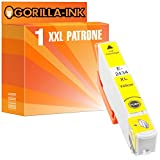 Gorilla-Ink® 1x Tinten-Patrone XXL GI2434 Yellow kompatibel zu Epson Expression Photo XP-55 XP-750 XP-760 XP-850 XP-860 XP-950 XP-960