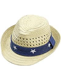 Lecimo 48cm Casquillo Lindo Del Bebé Del Verano Sombrero De Paja Respirable  Del NiñO Sombreros Del 88689f450ef
