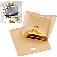 mark8shop Reusable Toaster Bag Sandwich Bags Non Stick Bread Bag Toast Heating bolsas de comida