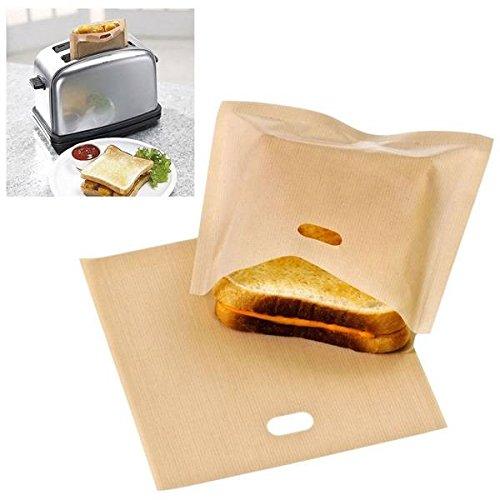 mark8shop wiederverwendbar Toaster Bag Sandwich Bags antihaftbeschichtet Brot Tasche Toast Heizung Speisen Staubbeutel