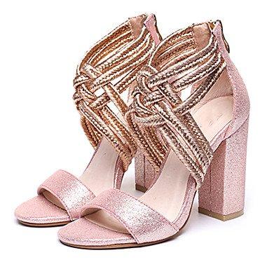 LvYuan Da donna-Sandali-Formale Casual Serata e festa-Altro-Quadrato-Lustrini-Nero Argento Dorato Rosa chiaro light pink