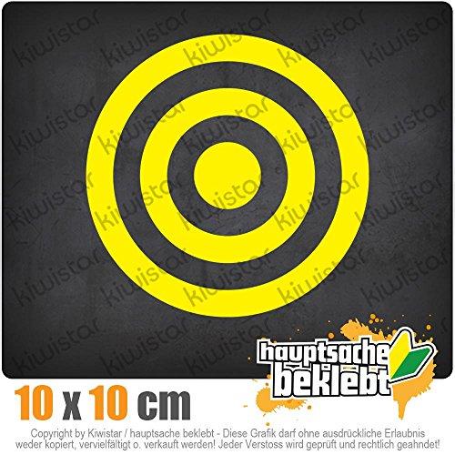 KIWISTAR Bullseye Zielscheibe RAF 10 x 10 cm IN 15 FARBEN - Neon + Chrom! Sticker Aufkleber