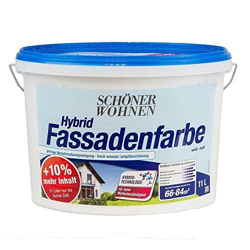 Hybrid Fassadenfarbe Weiss 11 L Matt Schoener Wohnen