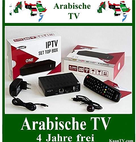 Blomc Ones Arab Sat IP Box + Arabische TV Sender 4 Jahre eingestellt ohne Sat (Wifi Arabisch-receiver)