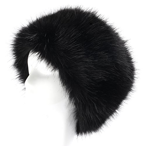 YANIBEST Cossack Russian Style Faux Fur Hat for Ladies Winter Hat for Women