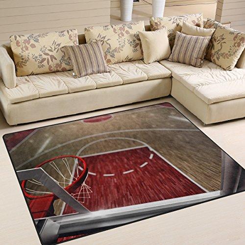 Preisvergleich Produktbild lupinz Basketball Sports NBA Bereich Teppich Teppich Eintrag,  sich Fußmatte Tür Matte Bodenmatten Schuhe Schaber Home Dec 160 x 121, 9 cm / 203, 2 x 147, 3 cm Anti-Rutsch waschbar 404717HC,  Polyester,  2,  80 x 58 inch