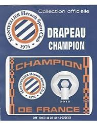 Drapeau Champion de France - Collection officielle - MHSC MONTPELLIER Hérault - Football Ligue 1