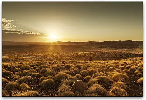 bestforhome 150x100cm Leinwandbild Sonnenaufgang in der Wüste von Australien Leinwand auf Holzrahmen - Sonnenaufgang In Der Wüste Fertig