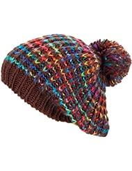 Chaleureux et branché chapeau bonnet à pompon - coloré chapeau chapeau tricoté d'hiver chapeau d'hiver 260