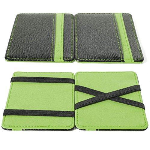 House cloud portafoglio magico in simili cuoio - magic wallet credit card holder - porta moneta -verde