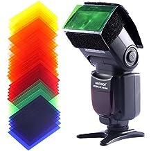 Neewer Universal 35- Juego de filtros de colores, compatibles con flash para cámaras digitales